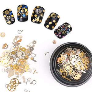 1 Box Ultra-thin 3D Nail Decoration Bronze Gear Time Wheel Steam Punk Style Studs Manicure Nail Art Decoration