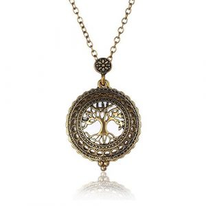 suchadaluckyshop 1pc Vintage Pocket Watch Necklace Steampunk Pendant Men Women Necklace Chain Hot