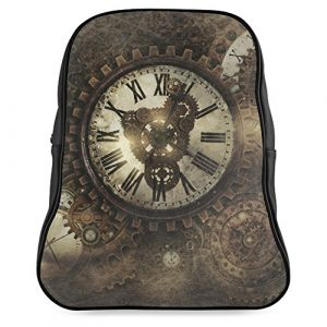 ADE Vintage Steampunk Clocks School Backpack Large M1601 Back to School