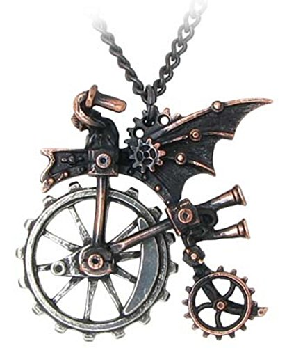 Alchemy Gothic Ventus Traction Farthing Steampunk Necklace