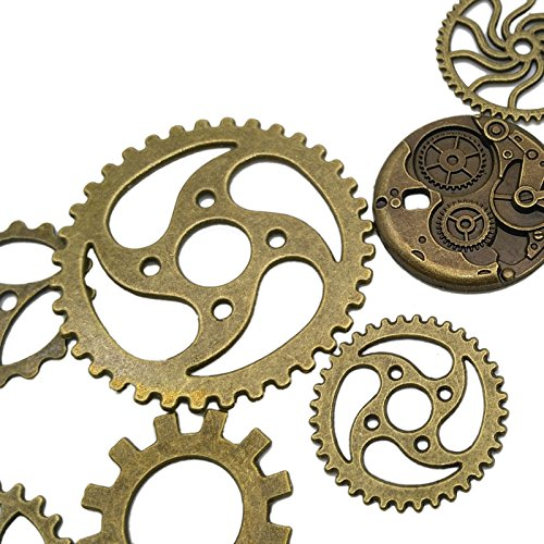 Antique Metal Steampunk Charms Pendant for Crafting, Cosplay Halloween Decoration,Jewelry Making Accessory