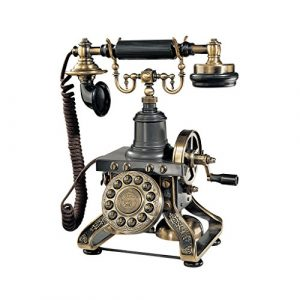 Design Toscano Antique Phone - The Eiffel Tower 1892 Rotary Telephone - Corded Retro Phone - Vintage Decorative Telephones