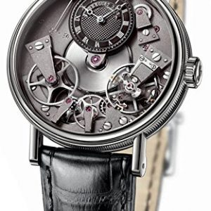 Breguet Tradition Black Skeleton Dial 18kt White Gold Black Leather Mens Watch 7027BBG99V6