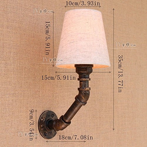 CGJDZMD Wall Sconce Industrial Water Pipe Wall Lamp Retro Water Pipe Wall Lamp European Nostalgic Iron Craft Interior Lighting Steam Punk Water Pipe 1 Lamp Wall light Restaurant Decoration Lamps