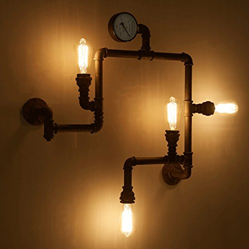 Vintage Steampunk Pipe Wall Light 4 Lamps Design - Steampunk Ages
