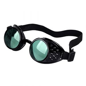 Careonline Adjustable STEAMPUNK GOGGLES Glasses Punk Sunglasses Eyewear Safty Goggles