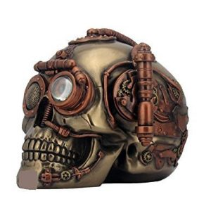 Collectable Steampunk Steam Powered Observation Skull 16.5cm, comes in a gift box by Simple Earth Gifts