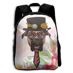 Cool 3D Shoulder Bag Shoulders Bag Steampunk Dog Print For Children Boy's&girls Child's White
