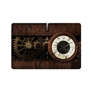 "Custom Funny Amazing Gear Gear Steampunk Vintage Mechanism Welcome Decorations Decorative Doormat Indoor/Outdoor Doormat 23.6"" x 15.7"" Non-woven Fabric Non Slip"