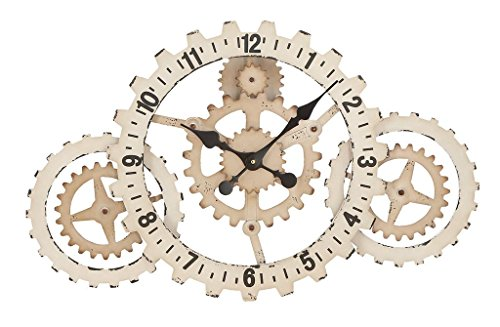 Deco 79 Metal Wall Clock, 32 by 20-Inch