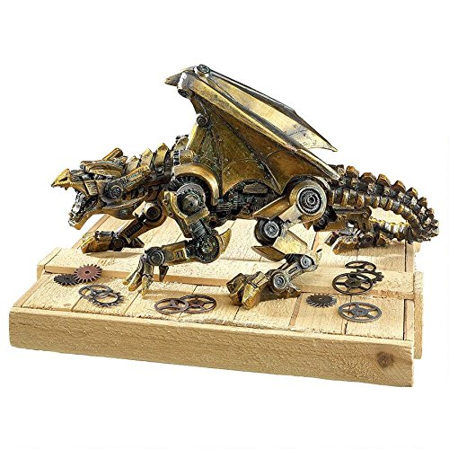 Design Toscano Steampunk Gothic Gear Dragon Statue, Bronze