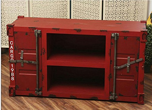 Diwhy American Antiqued Industrial SIX Drawer Cabinet H47xL23.6xW16.5 inches