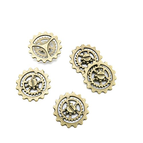 Fashion Jewelry Making Charms Findings Arts Crafts Beading Antique Bronze Tone I1QB0 Cog Steampunk Gear Gearwheel