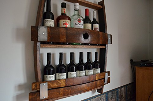 Full Wine barrel wine rack, reclaimed wine barrel, liquor cabinet