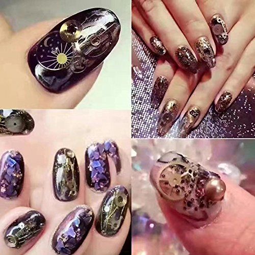 Gracefulvara 3D Nail Art Decoration Bronze Time Wheel Steam Punk ...
