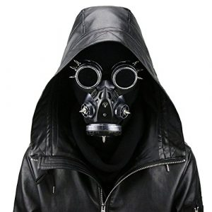 Steampunk Gas Goggles Skeleton Warrior Death Mask Masquerade Christmas Cosplay Props