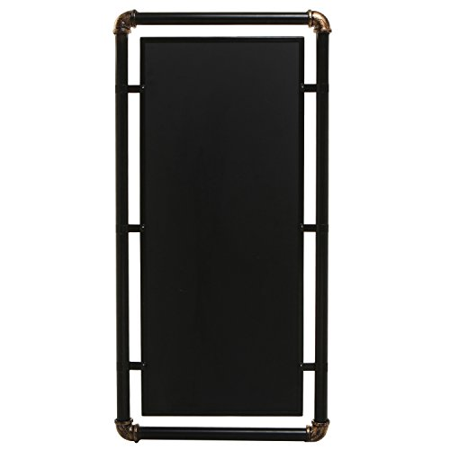 Industrial Style Erasable Chalkboard, Message Board Sign with Modern Metal Pipe Frame, Black