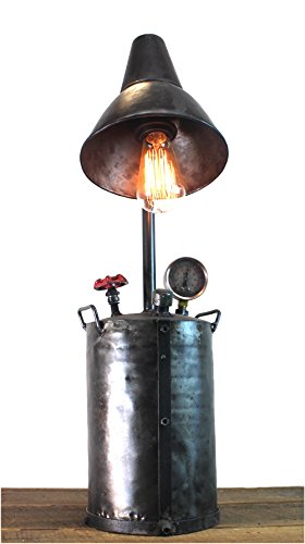 Industrial Style Factory Oil Pump Steampunk Lamp Aged Finish w Real Parts