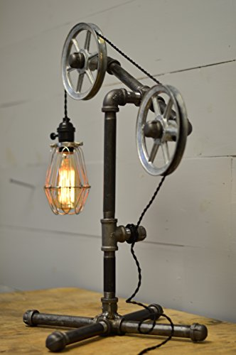 industrial style table lamp steampunk ages. Black Bedroom Furniture Sets. Home Design Ideas