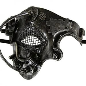KAYSO INC Steampunk Phantom of The Opera Mechanical Venetian Masquerade Mask