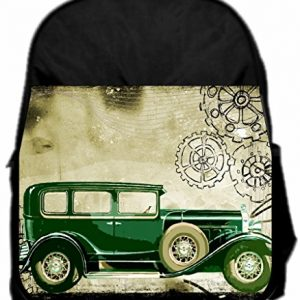 Lea Elliot Pre-School Backpack, Retro Steampunk Style Car, Small, Black