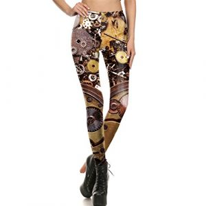 Leggings Women Workout Legging Steampunk Mechanical Gear Cosplay leggin Women Jeggings Print Fitness Pant