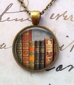 Library Book Necklace, Librarian Pendant, Bibliophile, Classic Literature, Book Quote, Literary, Literacy, Gift Idea, Book Lovers, Read (8)
