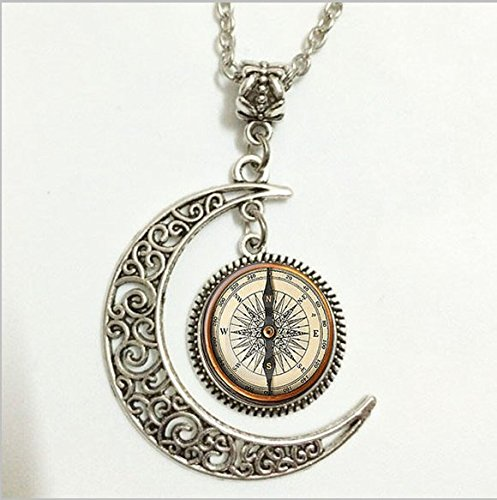 Moon Necklace Glass Art Picture