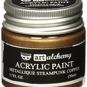 Prima Marketing 963064 Finnabair Art Alchemy Acrylic Paint, 1.7 fl. oz, Metallique Steampunk Copper