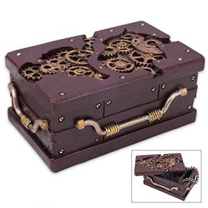 K EXCLUSIVE Rectangle Steampunk Trinket Box