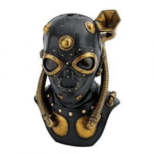 Steampunk Apocalypse Gas Mask Statue Multicolored Outdoor Statues --P#EWT43 65234R3FA610610