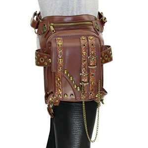 Steampunk Bag Steam Punk Retro Rock Gothic Goth Shoulder Waist Bags Packs Rivet