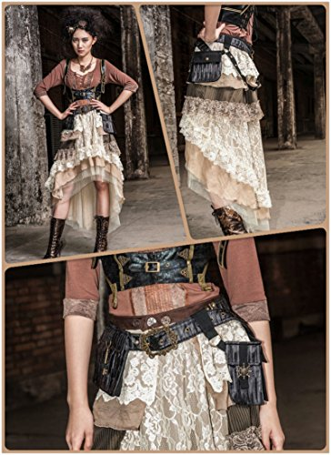 Steampunk Cosplay Mediterranean Rudder Satchel School Girls Messenger Bags Pack