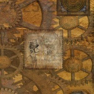 "Steampunk: JOURNAL LOG DOODLE SKETCH DRAWING NOTE BOOK NO LINES UNRULED 6"" x 9"" 186 PAGES"