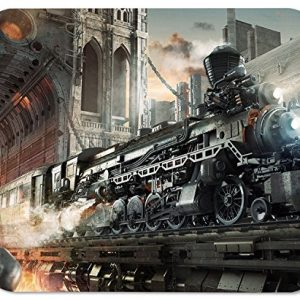 Steampunk Railroad Train Mouse Mat Pad Mousepad