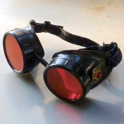 Steampunk Victorian Goggles Welding Glasses Diesel Punk-Limited GGG-red