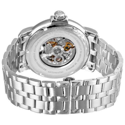 Stuhrling Original Men's 344.331154 Legacy Automatic Self-Wind Skeleton Stainless Steel Link Bracelet Dress Watch
