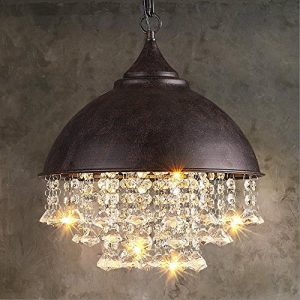Vintage Industrial Pendant Ceiling Light Steampunk Retro LOFT Creative Crystal Iron Chandelier Bar Restaurant Cafe Decoration Lighting