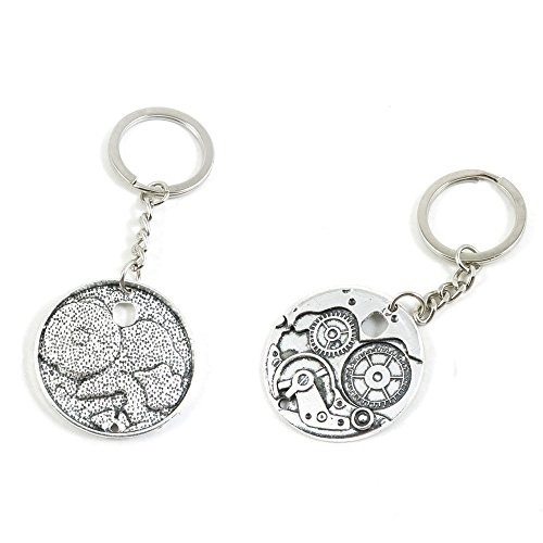 WatchWheel Gear Cog Steampunk Keychain Keyring Jewelry Making Charms Door Car Key Tag Chain Ring A3SC3G