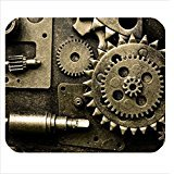 custom cool steampunk pattern cloth cover rectangle Mouse Pad 8.87 X 7.28 inch