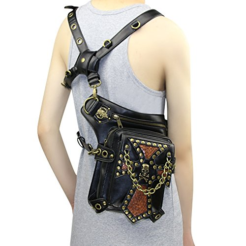steampunk waist bag Gothic Punk Retro Shoulder Waist Packs Victorian Style