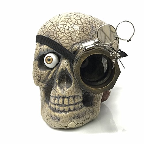UMBRELLALABORATORY Steampunk Monocle Goggles Victorian left Side with Double Clip on Loupe