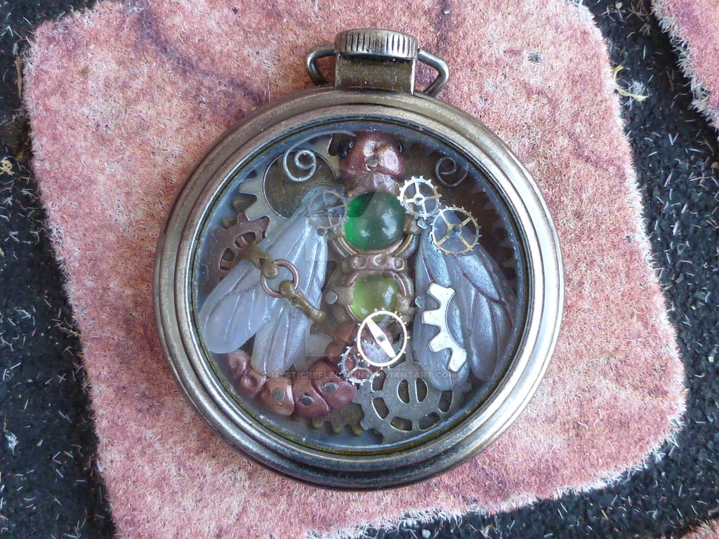 Steampunk style hand made pocket watch