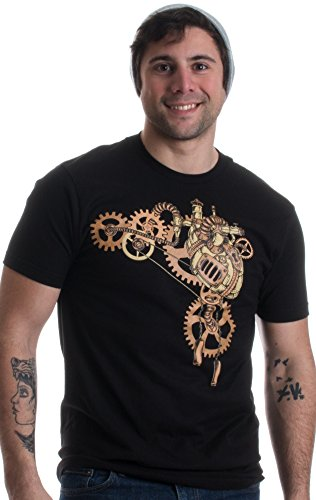 Steampunk Heart | Cosplay Sci Fi Fantasy Mechanical Gears Anatomy Unisex T-Shirt