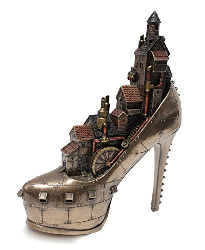 Steampunk Stiletto Hill Ironopolis Cold Cast Bronze 10 Inch Tall by Masada Goods