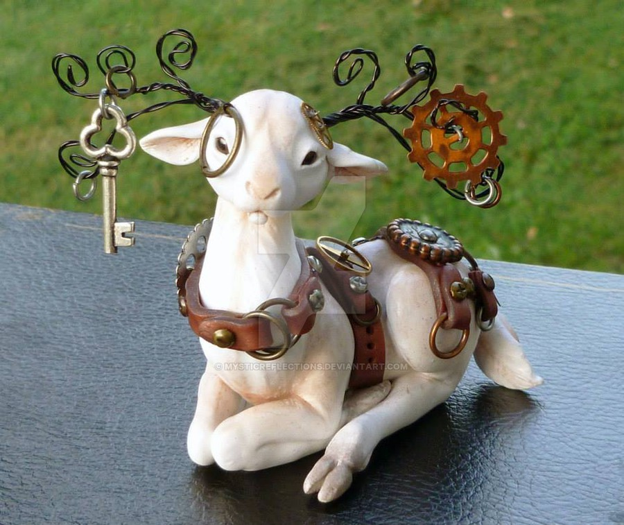 Steampunk White Stag