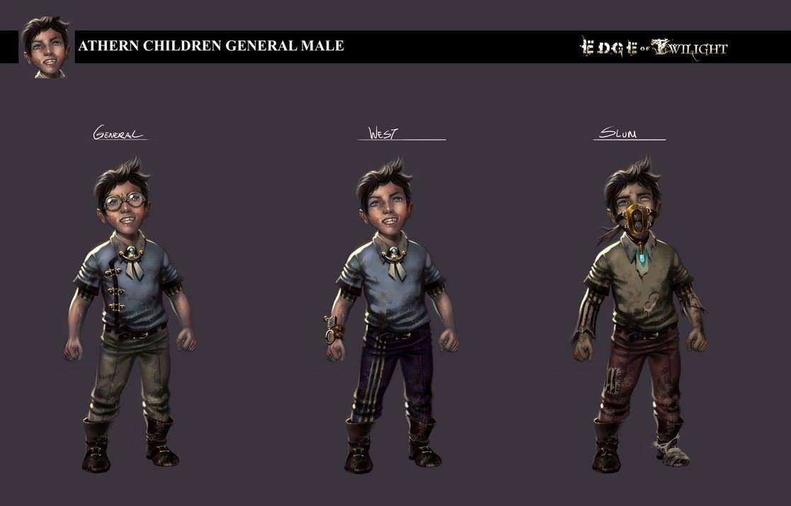 """Concept art for the steampunk style game """"Edge of Twilight"""""""