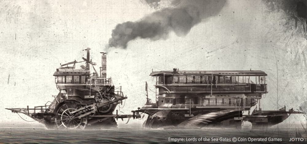 concept art in steampunk style by J.Otto Szatmari