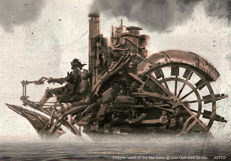 concept steampunk style art digital illustration