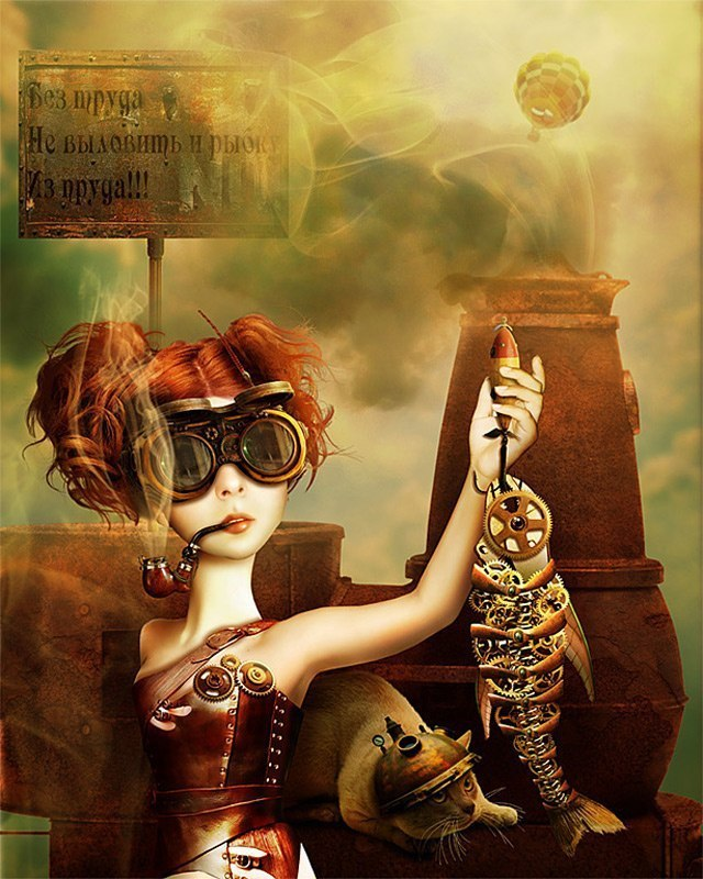 steampunk digital graphics